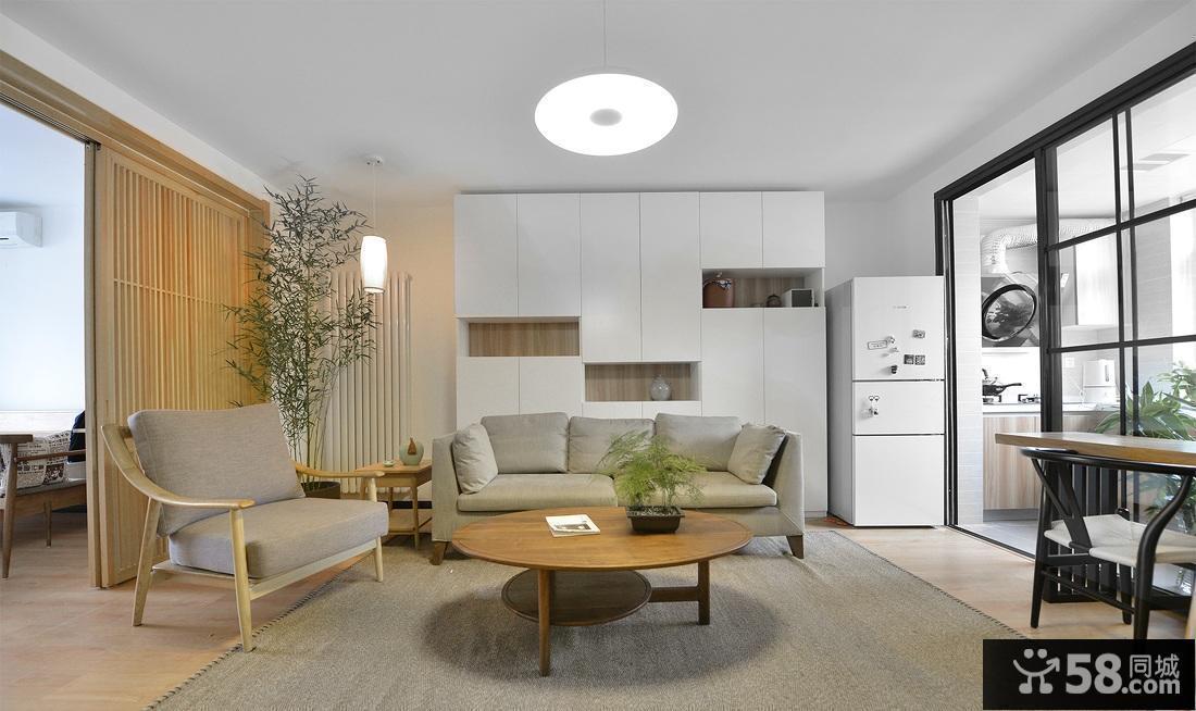 现代客厅沙发背景