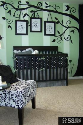 婴儿房墙上装饰效果图片