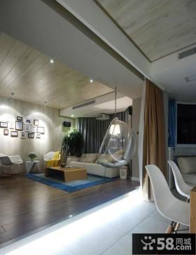现代风格客厅木地板装修效果图