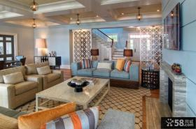 最新的复式楼客厅风格欣赏