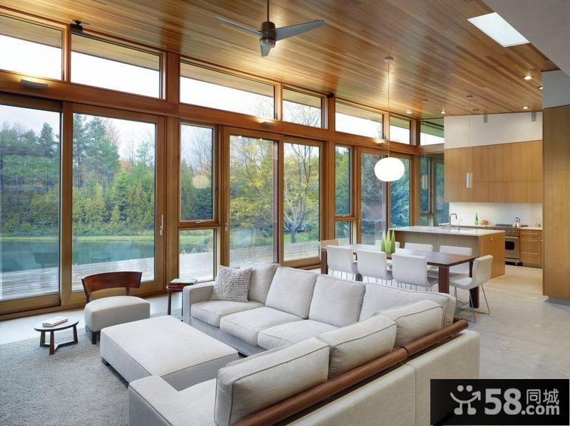 新中式别墅客厅效果图