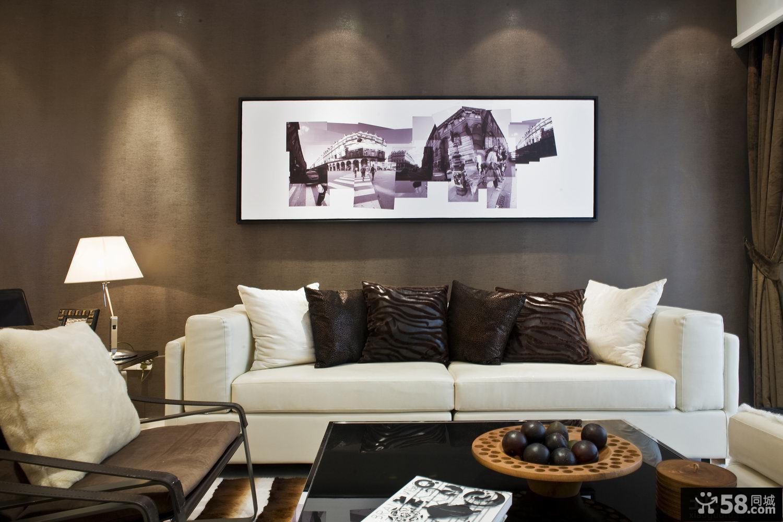 简约客厅沙发挂画效果图片