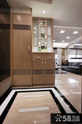 日式风格两室一厅装修玄关效果图