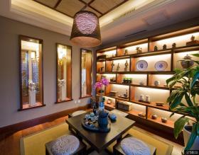 中式风格豪华室内博古架装修效果图
