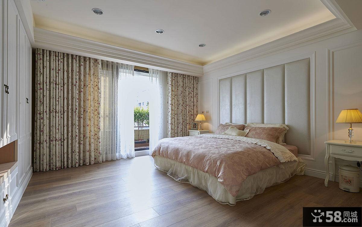 美式别墅简约卧室设计效果图