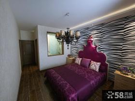 美式婚房卧室装修设计效果图