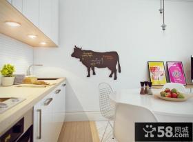 清新北欧风格厨房效果图