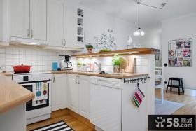 北欧风格厨房装修图片