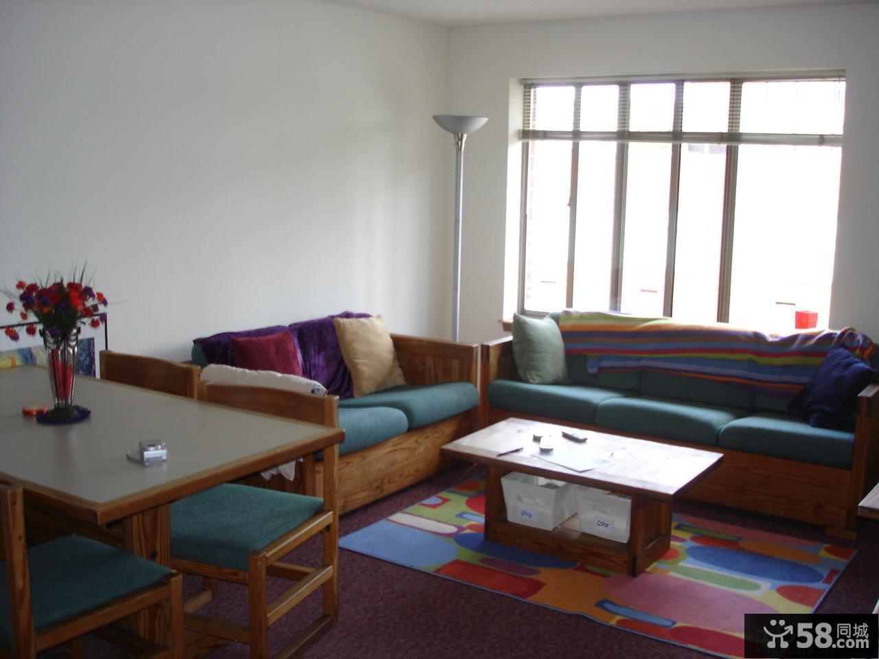 现代小户型客厅装修效果图大全2013图片