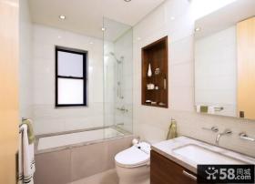 卫生间淋浴室玻璃隔断效果图大全
