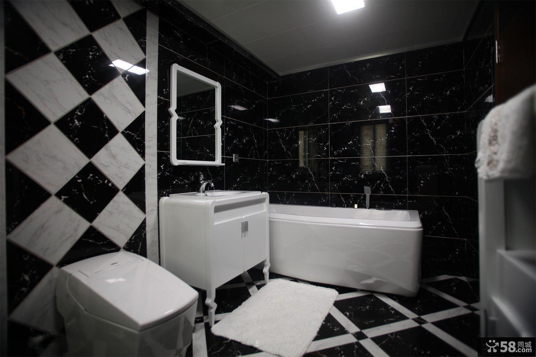 现代风格黑白色卫生间装修