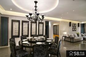 中式现代餐厅室内家装效果图