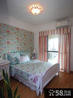 地中海主卧室窗帘装修效果图