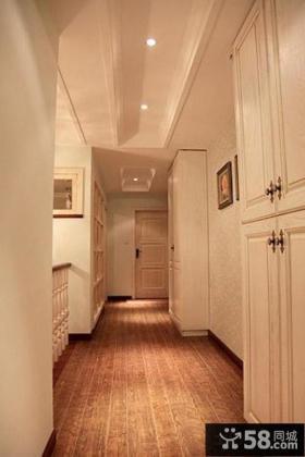 美式别墅走廊玄关设计图片欣赏