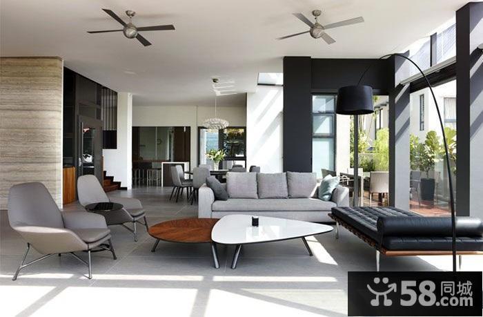现代简约风格客厅窗帘效果图