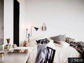 北欧黑白灰卧室装饰搭配案例