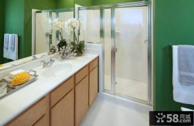 感觉很清新的简约风格装修卫生间图片