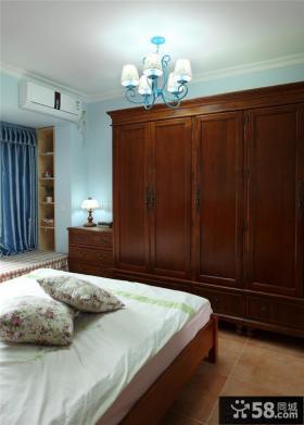 2013中式卧室衣柜装修效果图