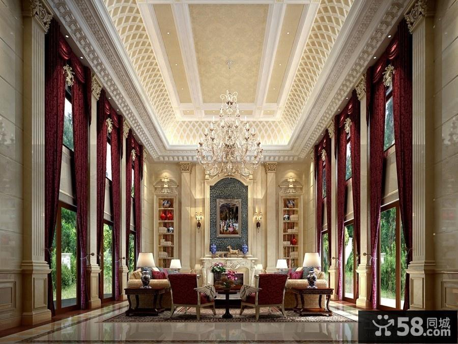 欧式客厅水晶灯图片