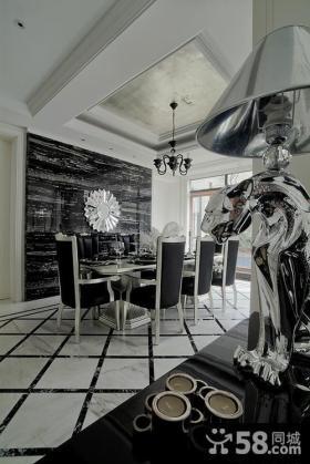 欧式新古典家庭餐厅吊顶灯装修效果图