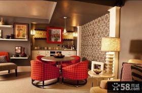 80平米小户型美式浪漫的餐厅装修效果图大全2014