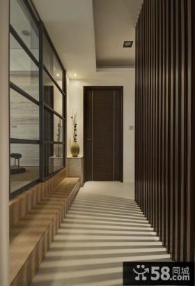 日式家居走廊玄关设计图片