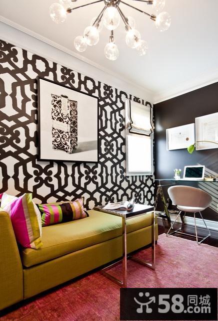 欧式客厅电视墙装修图片