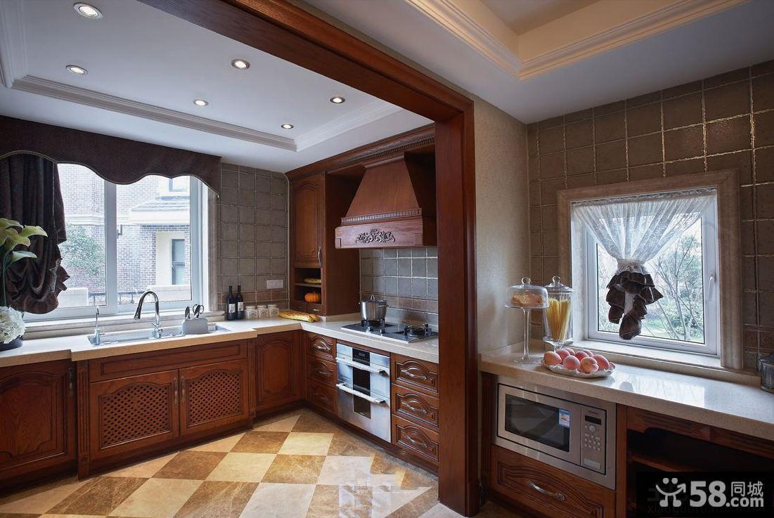 欧式古典风格厨房垭口图片 - 58装修效果图