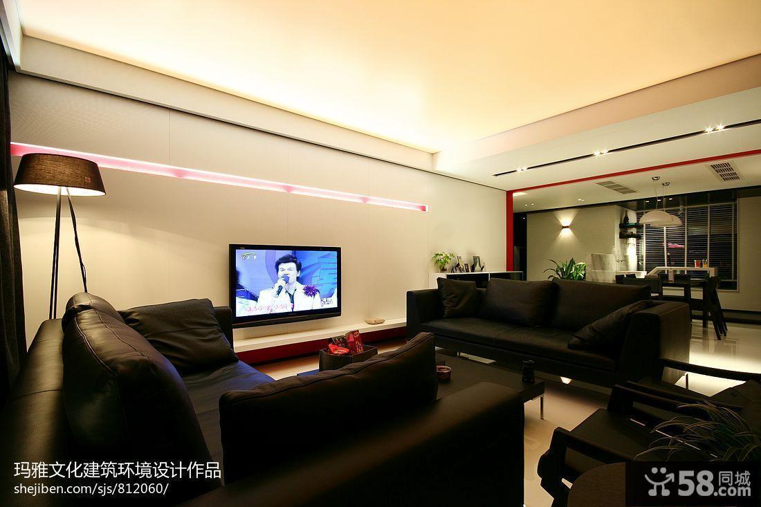 电视背景墙瓷砖简约