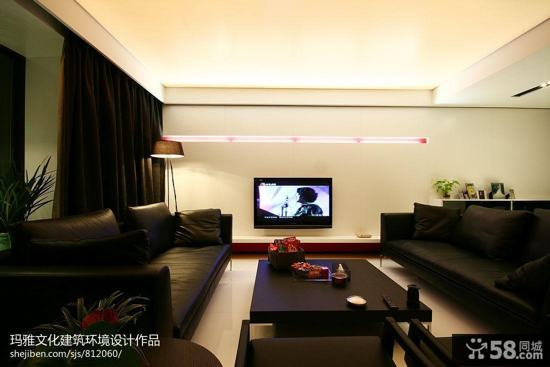 简约时尚电视背景墙设计