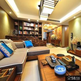 东南亚风格创意三居室装修设计图