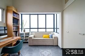现代白领公寓书房装修效果图