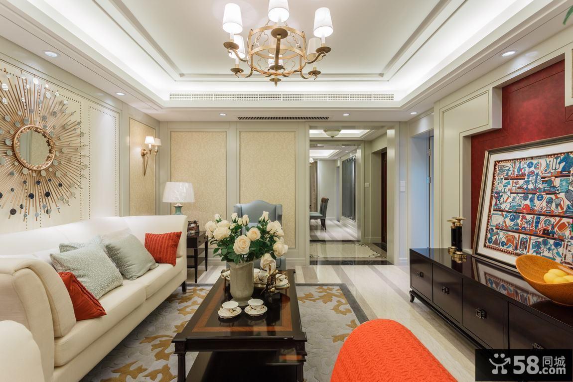 简约中式客厅装修图