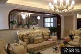 80平简欧风格二居装潢设计