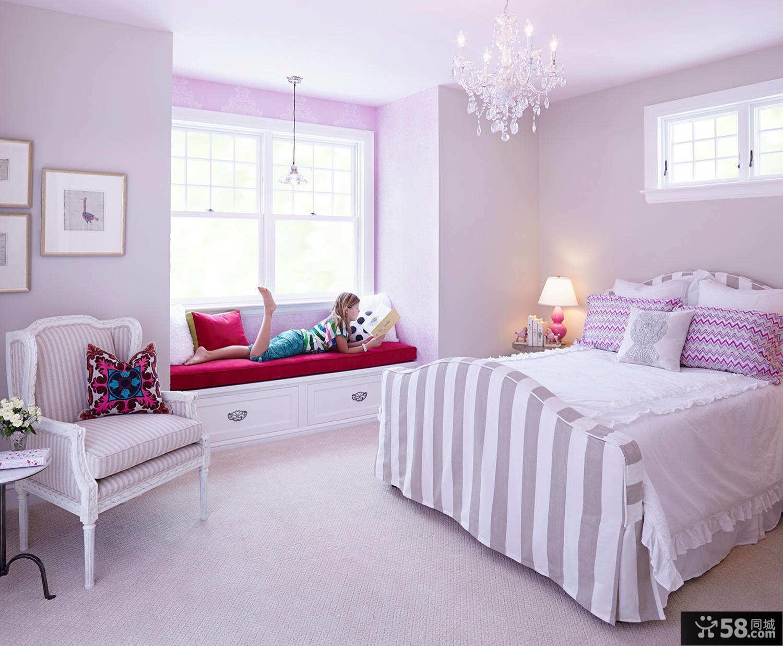 时尚紫色儿童房小孩房设计