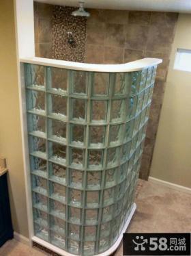 卫浴玻璃砖隔断墙效果图片