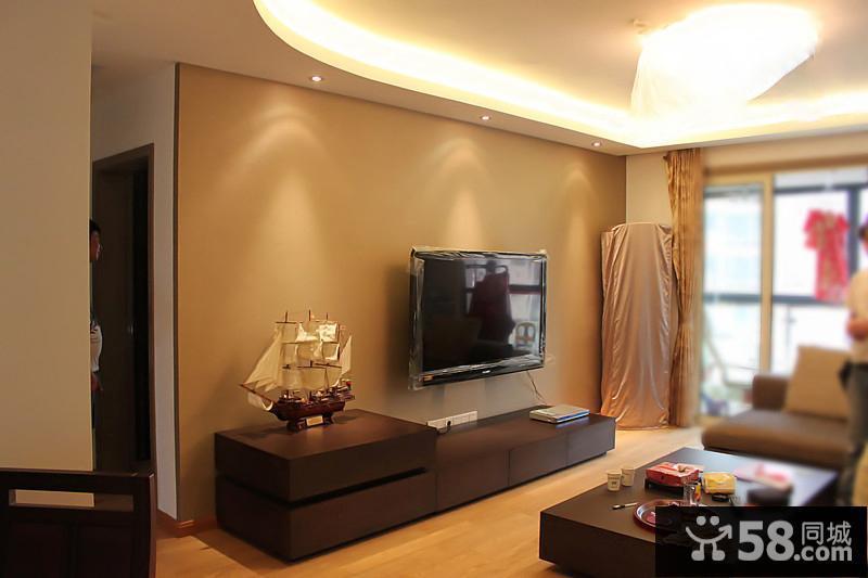 中式简约沙发背景墙