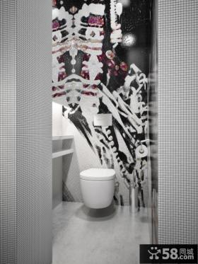 300平米的乌克兰现代别墅卫生间瓷砖效果图欣赏