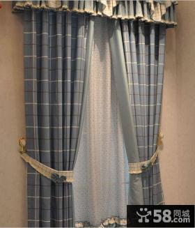 简约客厅布艺窗帘效果图欣赏