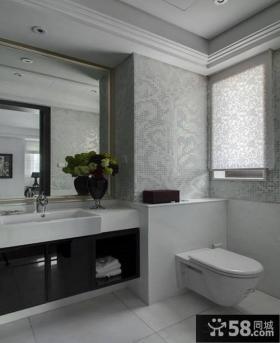 黑白卫生间装饰图片