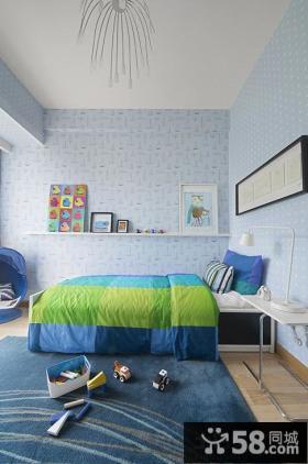 宜家风格儿童房间色彩布置图片