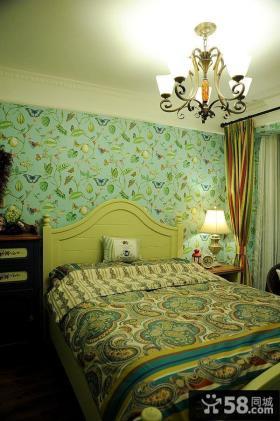 田园风格卧室装潢效果图