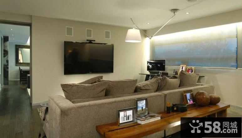 现代简约装修电视墙