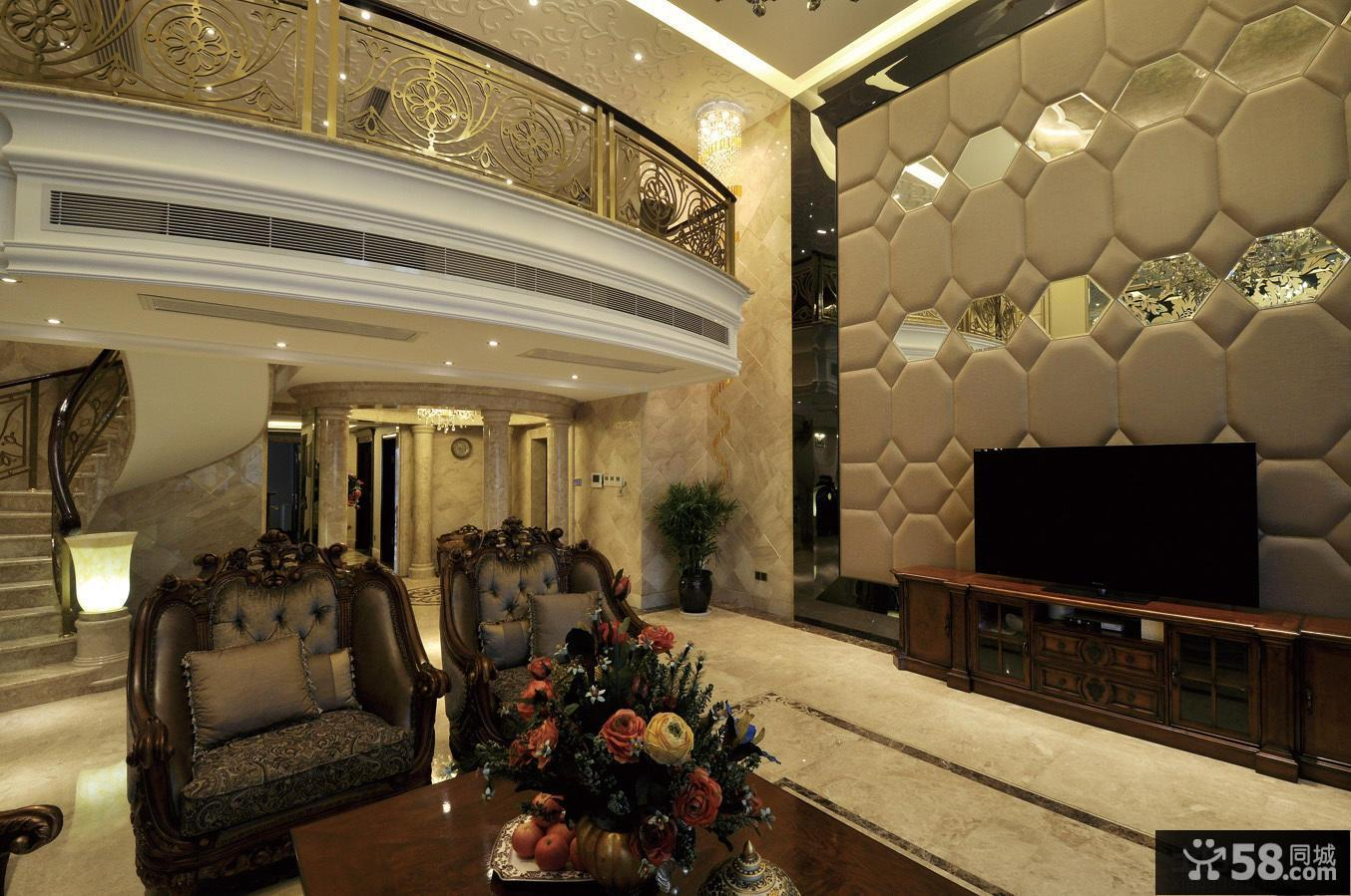 美欧家装设计客厅电视背景墙图片