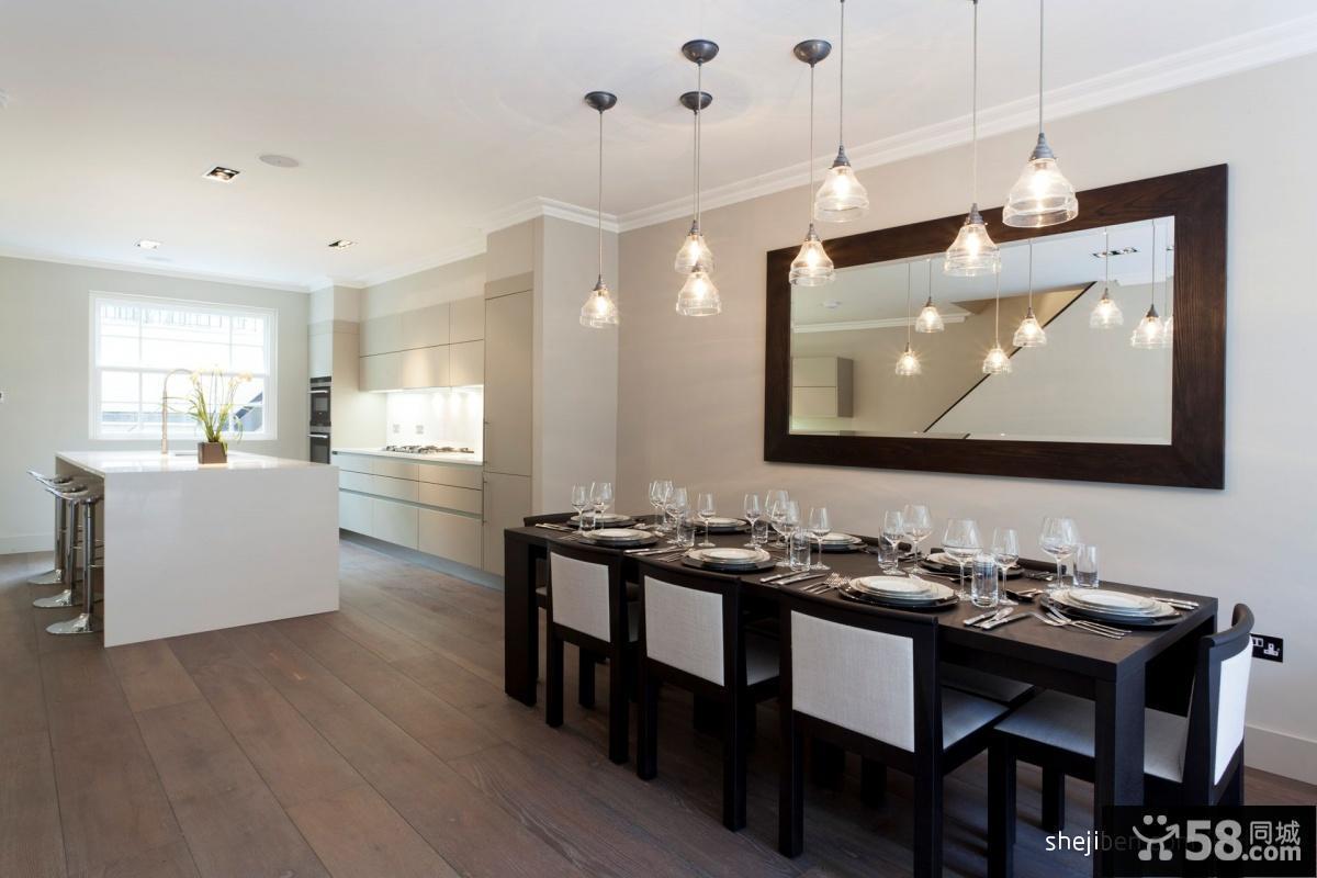 三室两厅家装设计 现代简约餐厅装修效果图
