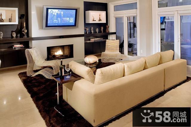 客厅红木沙发背景墙