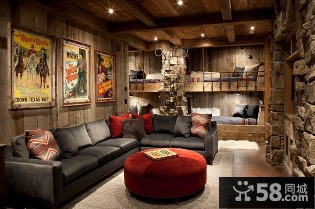 美式复古风格客厅