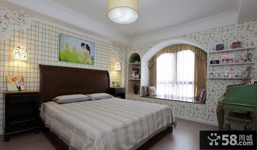现代美式家居卧室装修图片欣赏