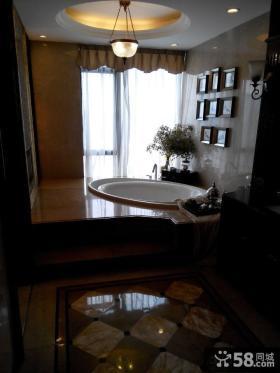 现代风格卫生间浴池装修效果图