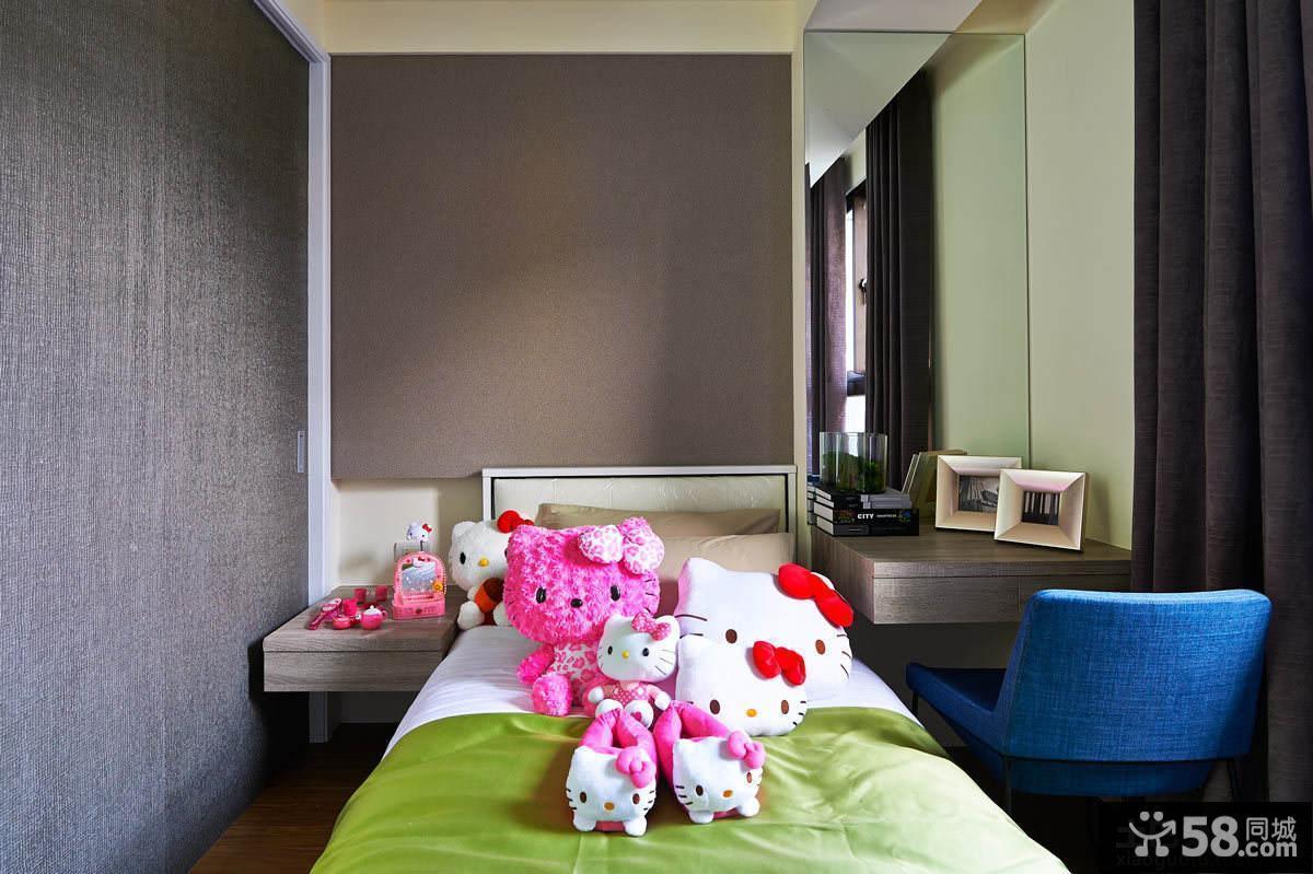 现代家居风格装修儿童房图片